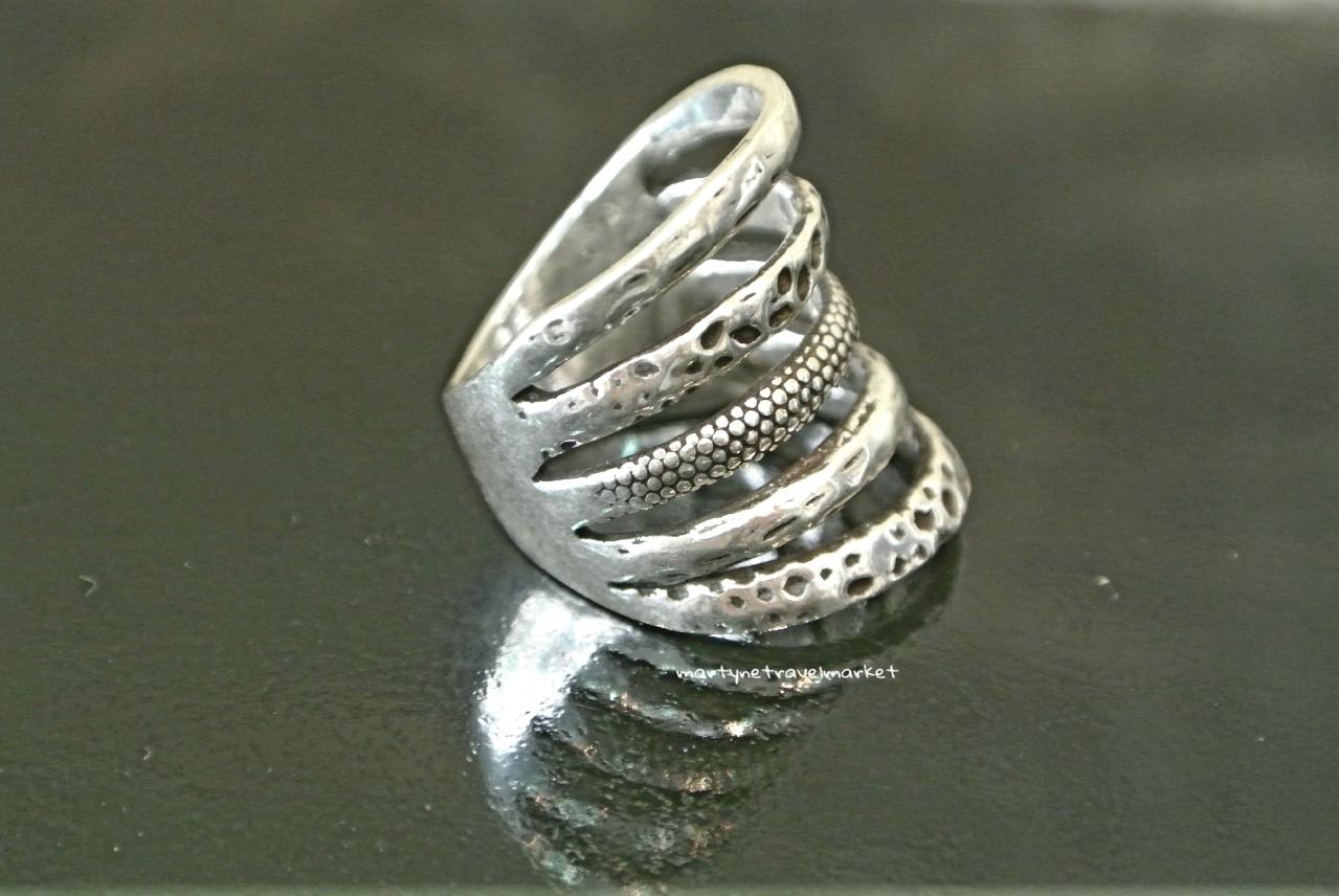 bague argent 5 anneaux